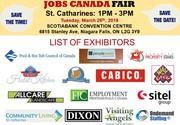 FREE: St Catharine's/Niagara Job Fair – March 26th,  2019