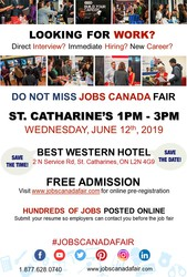 St Catharine's Job Fair - June 12th,  2019