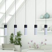VELA 5 Mini Pendant Lighting Black-White - LED Hanging Light